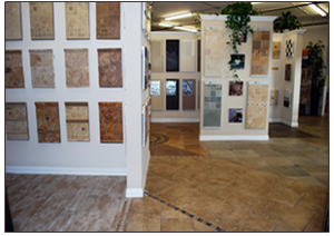 granite and ledger stackstone showroom